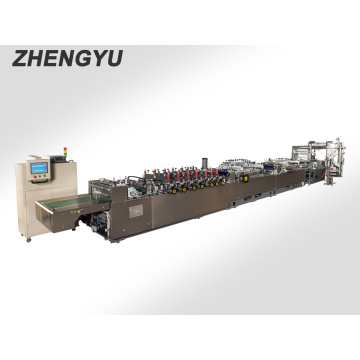 Zipper double stand bag machine